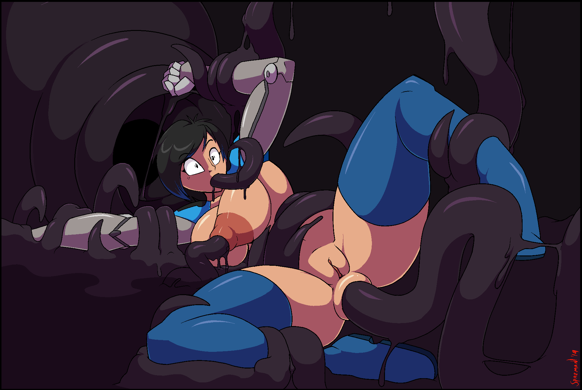 the all way tentacle through Voltar league of super evil
