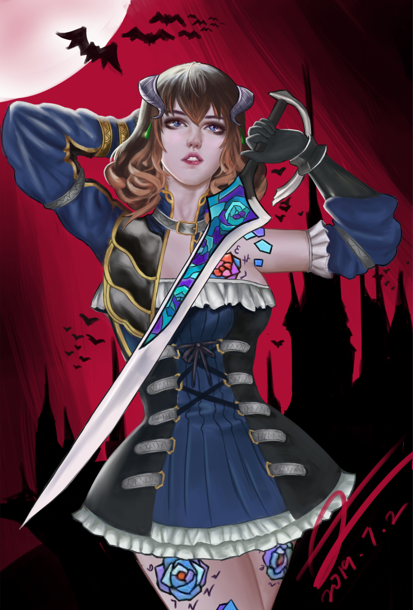 night of the ritual bloodstained Street fighter chun li and cammy