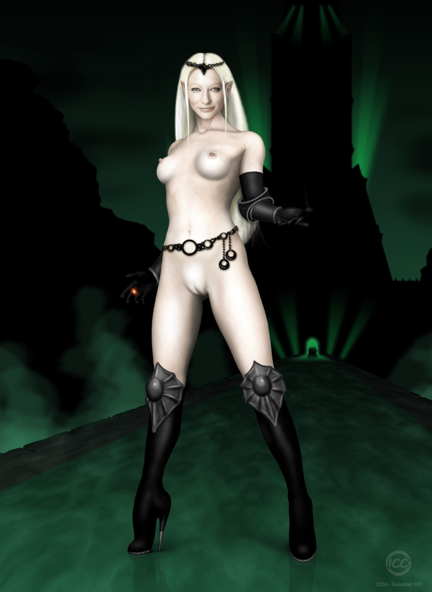the queen of lord rings elf Akiba's trip: undead & undressed nude